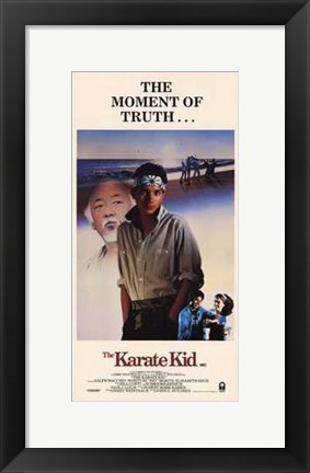 Framed Karate Kid Moment of Truth Print