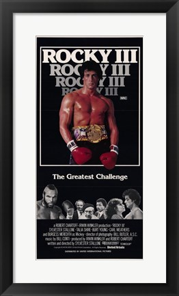 Framed Rocky 3 The Greatest Challenge Print