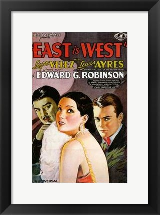 Framed East is West Print