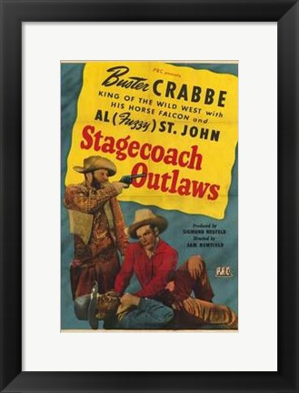 Framed Stagecoach Outlaws Print