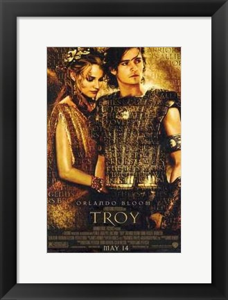 Framed Troy Helen of Troy and Paris Print