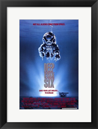 Framed Deep Star Six Print