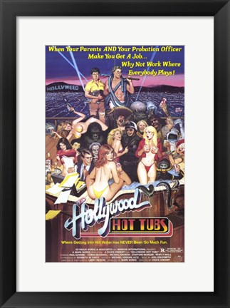 Framed Hollywood Hot Tubs, c.1984 Print