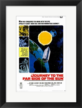 Framed Journey to the Far Side of the Sun Print