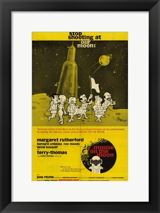 Framed Mouse on the Moon Print
