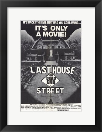 Framed Last House on Dead End Street Print