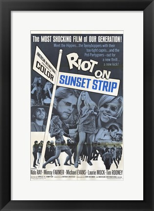 Framed Riot on Sunset Strip Print