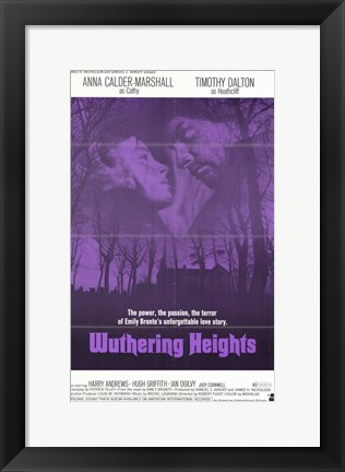 Framed Wuthering Heights - purple Print