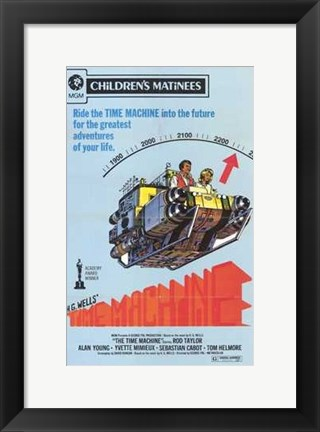 Framed Time Machine - into the future Print
