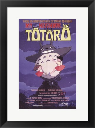 Framed Totoro (My Neighbor) Print