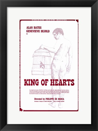 Framed King of Hearts Print
