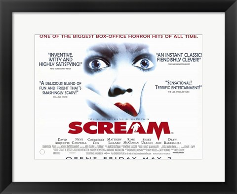 Framed Scream From Wes Craven Print