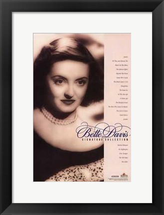 Framed Bette Davis Signature Collection Print