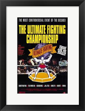 Framed Ultimate Fighting Championships Print