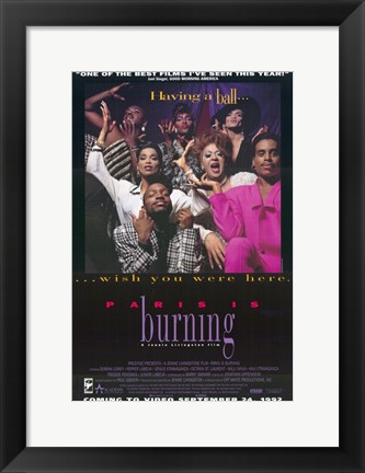 Framed Paris is Burning Print
