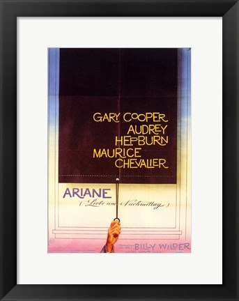 Framed Love in the Afternoon - Gary Cooper Print