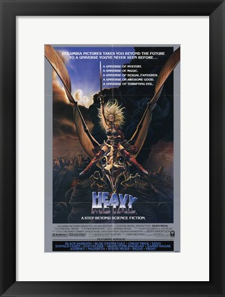 Framed Heavy Metal Step Beyond Science Fiction Print