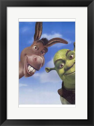Framed Shrek 2 Donkey and Shrek Print
