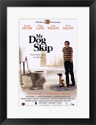 Framed My Dog Skip Print