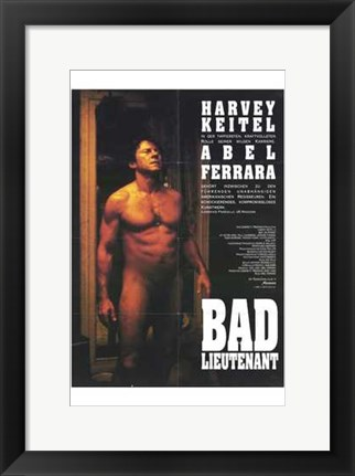 Framed Bad Lieutenant - Nude man Print