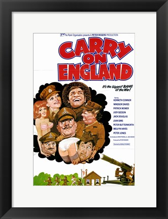 Framed Carry on England Print