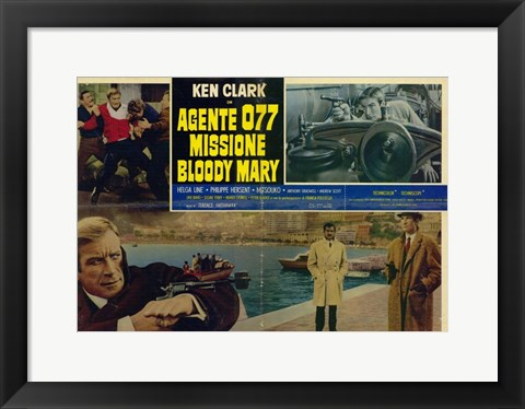 Framed Mission Bloody Mary Ken Clark Print