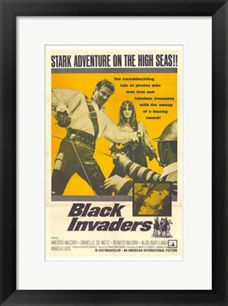 Framed Black Invaders Print