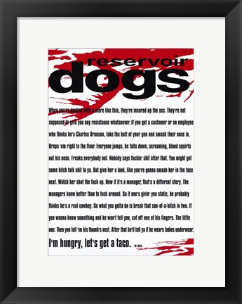 Framed Reservoir Dogs Quote Print