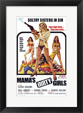 Framed Mama's Dirty Girls, c.1974 Print