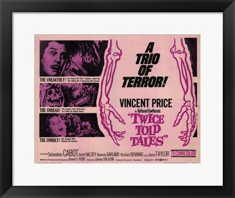 Framed Twice Told Tales movie poster Print
