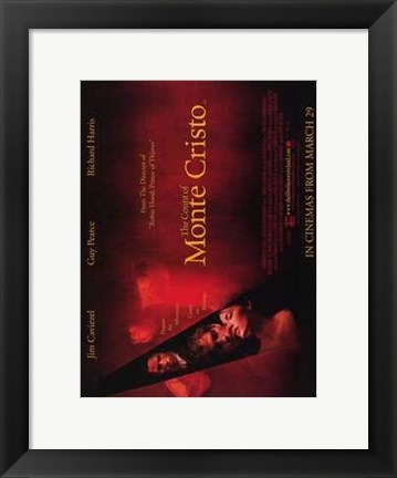 Framed Count of Monte Cristo - red Print