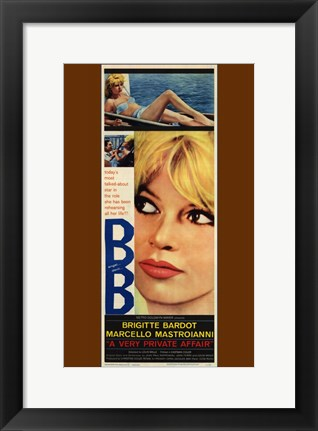 Framed Very Private Affair Brigitte Bardot Print