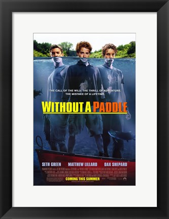 Framed Without a Paddle Print