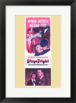Framed Stage Fright Dietrich & Wyman Print