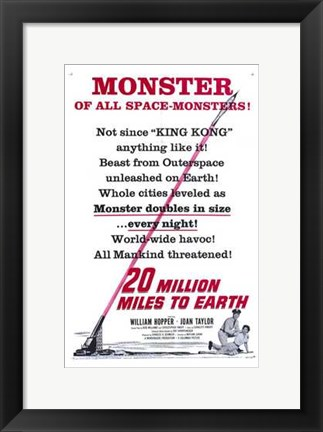 Framed 20 Million Miles to Earth Print