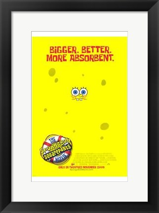 Framed Spongebob Squarepants Movie Print