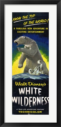 Framed White Wilderness Print