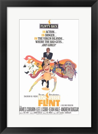 Framed In Like Flint James Coburn Print