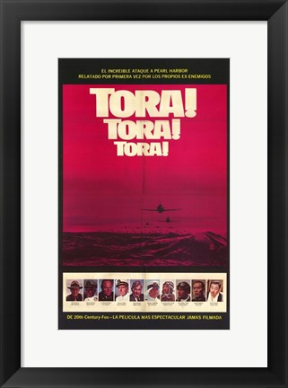 Framed Tora! Tora! Tora! Spanish Red Print