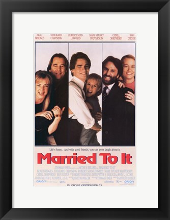 Framed Married to it Print