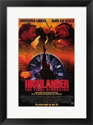 Framed Highlander the Final Dimension Print