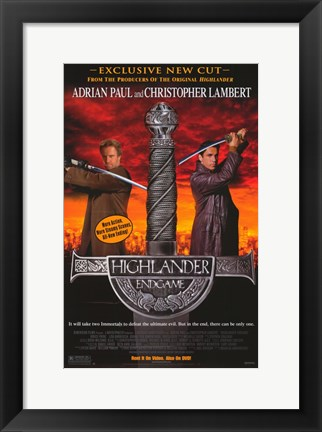 Framed Highlander: Endgame Movie Print