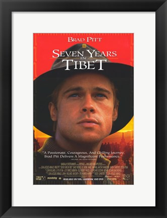 Framed Seven Years in Tibet Brad Pitt Print