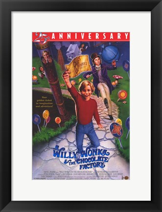Framed Willy Wonka and the Chocolate Factory - anniversary Print