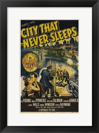 Framed City That Never Sleeps Print