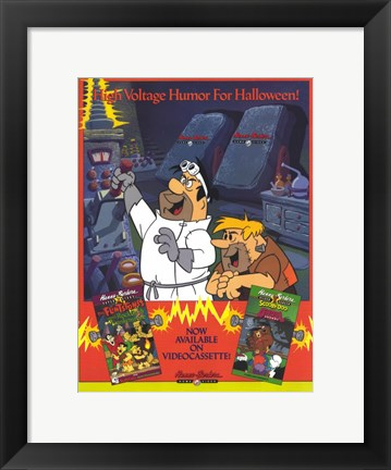 Framed Hanna Barbera Home Video Print