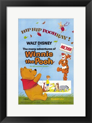 Framed Many Adventures of Winnie the Pooh Print