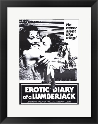 Framed Erotic Diary of a Lumberjack Print