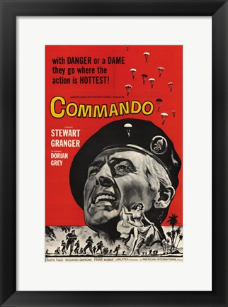 Framed Commando Print