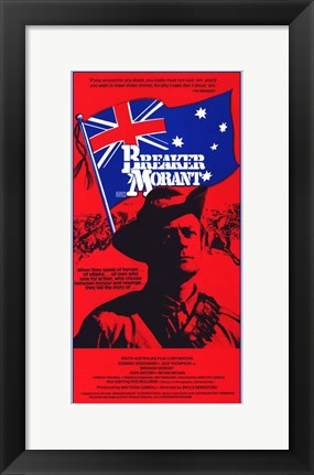 Framed Breaker Morant - tall red Print
